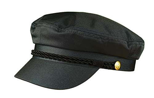 MADSea Elbsegler Gold Edition Schirmkappe Schirmmütze Hut, Farbe:schwarz, Größe:L