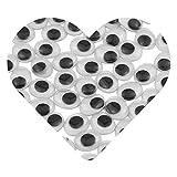 DEKOWEAR Occhi Adesivi 100 pezzi di Armeggiare Plastica, Occhio Adesivi 10 x 8 mm Ovale, fai da te Decorazione Scrapbooking Artigianato Accessori Giocattolo