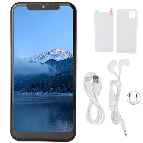 Teléfono Celular, 6.26in HD, Ajuste Completo para Pantalla de Gota de Agua, desbloqueo Facial, teléfono Blanco, 1 + 8GB 100‑240V, Doble Tarjeta, reconocimiento Facial(UE. Enchufe)