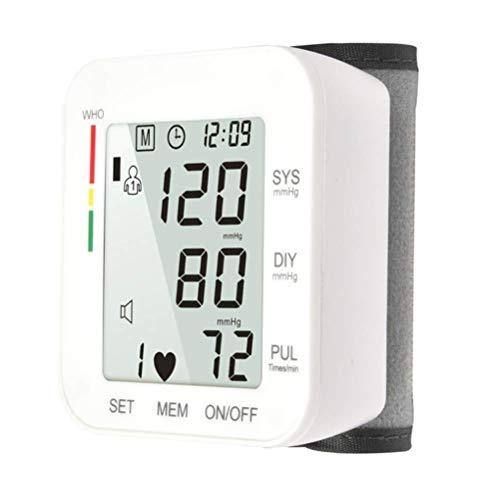 AirMood Handgelenk-Blutdruckmessgerät Digital-LCD-Schirm-Herz-Schlag-Messinstrument mit Wrist Cuff Genaue Pulsmessung Batterien im Lieferumfang enthalten für Home Use Weiß