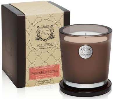Aquiesse Fine Max 59% OFF Scented Large Popular brand Candle In Citr Fruit Box - Passion