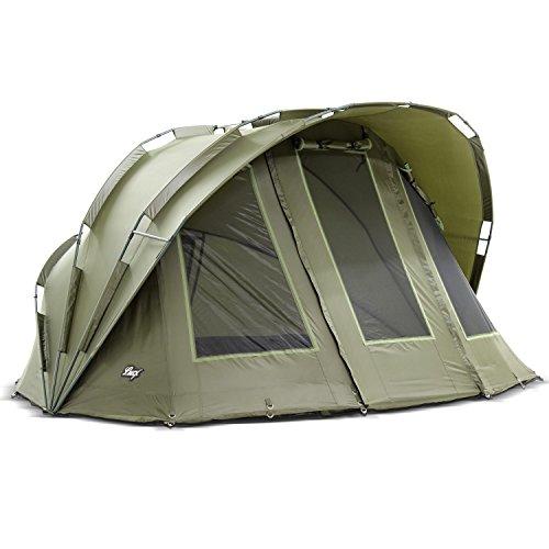 Lucx® Bobcat Angelzelt 2 Mann Bivvy Karpfenzelt 2 Personen Anglerzelt Carp Dome Fishing Tent Campingzelt