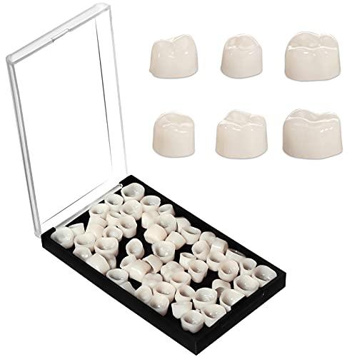 50 Denti Provvisori Denti Temporanei per Corone Kit di Riparazione Faccette per Corone Dentali Materiali Misti per Denti Posteriori, Igiene Orale, Otturazione, Correzione del Dente Rotto