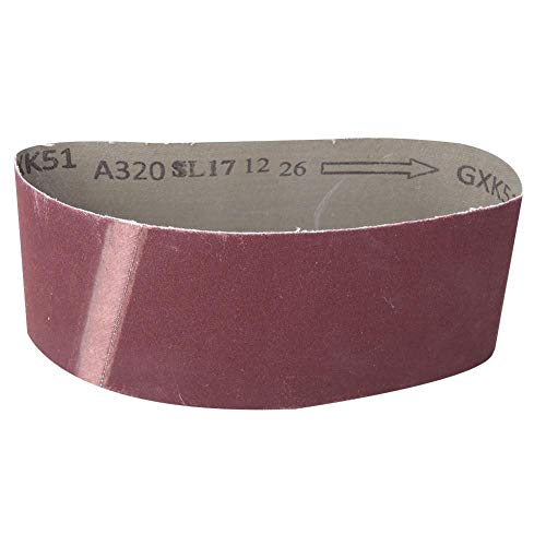 Bandschleifer Schleifband 457 mm x 75 mm Schleifen Polierschleifpapier Holzbearbeitungsschleifer Schleifband, Aluminiumoxid 10PCS 240-1000 Körnung Metallbeschläge(320)