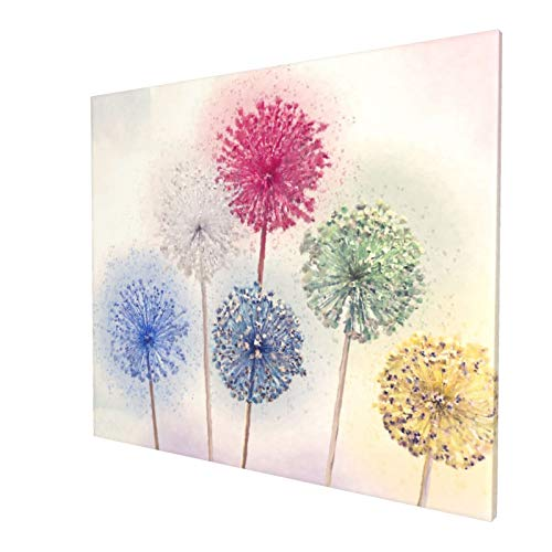 JINBOOM Art Flowers Painting Wall Art Watercolor-Style Retro Wood Frame Floral Print Artwork Canvas Picture for Bedroom Living Room Office Home Decoration Stretched and Framed Ready to Hang