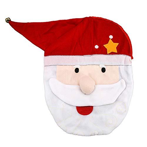 Copriwater natalizio con Babbo Natale, decorazione per il bagno, per Natale, decorazione per interni, bomboniere.