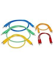 Hosa CMM-500Y-MIX TS - Cable de conexión (3,5 mm, TSF de 3,5 mm, 3,5 mm, TS Hopscotch, 5 unidades)