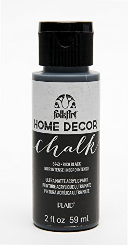 FolkArt 6443 Home Décor Chalk Furniture & Craft Paint in Assorted Colors, 2 oz, Rich Black
