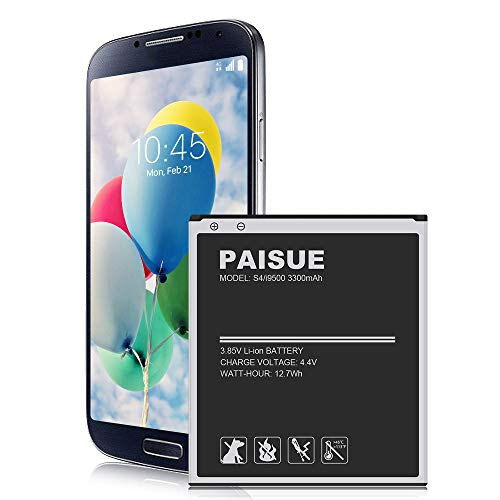Galaxy S4 Battery, 3300mAh Upgraded Li-ion Battery Replacement for Samsung Galaxy S4 EB-B600BE, I337 AT&T, I545 Verizon, L720 Sprint, M919 T-Mobile, I9506 LTE, I9500, I9505, R970 (Not for S4 Mini)