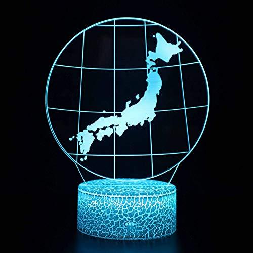 Tablero de acrílico tierra 3D portalámparas interfaz USB lámpara de mesa lámpara de decoración regalo de vacaciones decoración lámpara de mesa