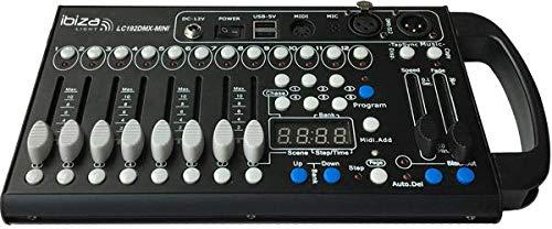 IBIZA LC192DMX MINI DMX CONTROLLER 192 KANÄLEN Licht LED Steuerung Mischpult Mixer Steuerpult Fader Desk