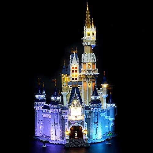 BRIKSMAX Kit de iluminación LED Lego Disney Castle - Compatible con Lego 71040 Building Blocks Model- No incluir el Conjunto de Lego