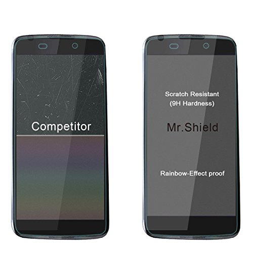 Mr Shield For Alcatel OneTouch IDOL 3 (4.7 Inch) [Tempered Glass] Screen Protector [0.3mm Ultra Thin 9H Hardness 2.5D Round Edge] with Lifetime Replacement Warranty