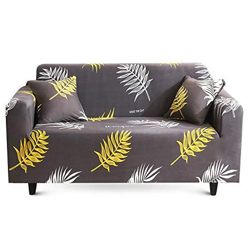 MAJAP - Funda elástica para sofá de 2 plazas, con 2 fundas de almohada, funda para sofá de esquina, funda para sofá en forma de L (145-185 cm)
