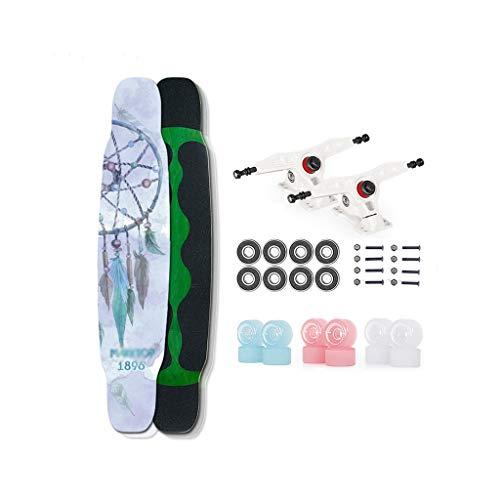 LIUFS-Monopattini Long Board Skateboard Brush Street Youth Dance Board Skateboard A Quattro Ruote Skateboard Professionale per Adulti - Dream Wind Chime (Colore : Multicolore)