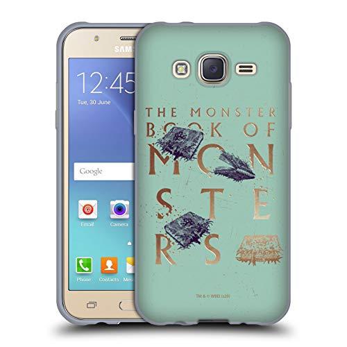 Head Case Designs Licenciado Oficialmente Harry Potter Libro de los Monstruos Reliquias de la Muerte XXXI Carcasa de Gel de Silicona Compatible con Samsung Galaxy J5 / J500