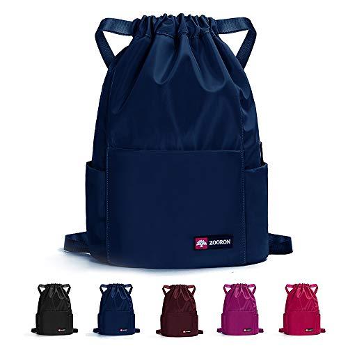 ZOORON Herren wasserdichte kordelzug gym-rucksack-beutel & dry wet string rucksack swim strand reisetasche einheitsgröße b-blau