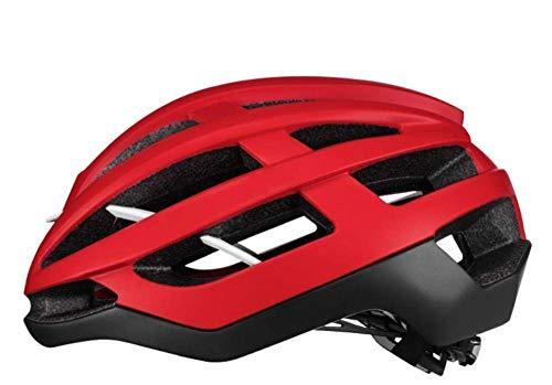 GUONING-L Helmet, Helmet Bicycle Cycling Bicycle Helmet Cycling Unisex Super Light Mountain Bike Aero Helmet Safety Cap Breathable Magnetic Buckle Red 55Cmx61Cm