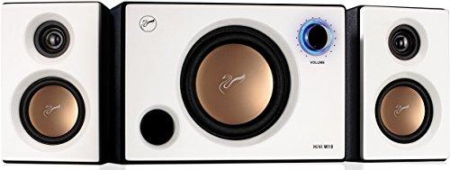 Swan Speakers Lautsprecher M20W 2.1 Wohnzimmer Laptop Lautsprecher M10, Weiß 5'' perlweiß