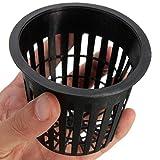 10pcs Negro Plástico Plantar Malla Red Olla cestas jardín hidropónico Plant Grow Taza