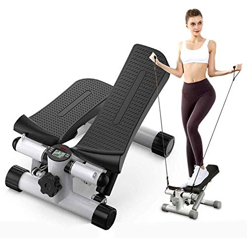 Fantastic Deal! Exercise Step Machine 2 in1 Stepper with Power Ropes, Body Sculpture Lateral Twist S...