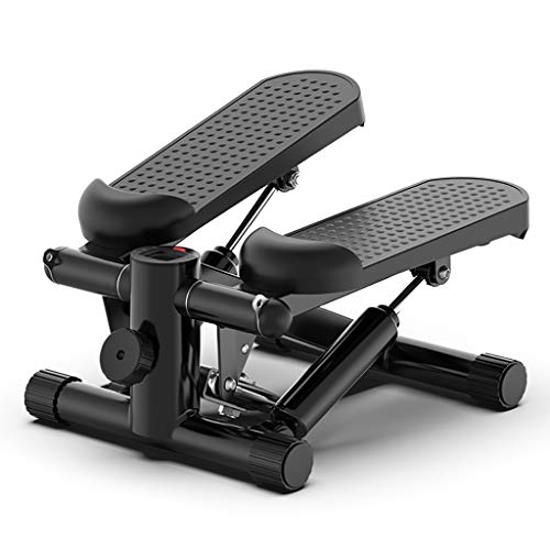 Affordable DWW Silent Mini Fitness Stair Stepper with LCD Monitor and Resistance Bands, Adjustable S...