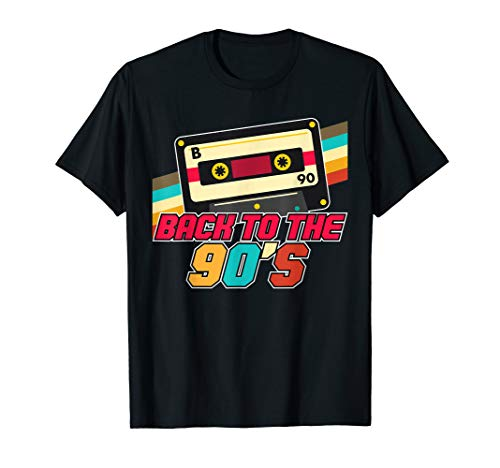90er Jahre Outfit   Back to the 90s Retro Party T-Shirt T-Shirt