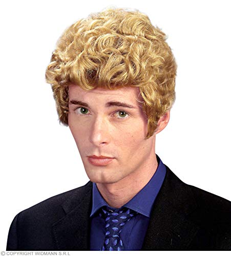 Brad Blond pruik voor haaraccessoires carnaval
