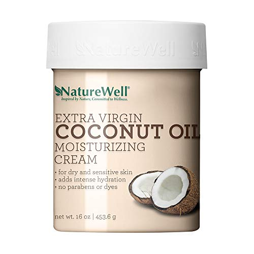 NatureWell Extra Virgin Coconut Oil Moisturizing Cream for Face & Body, 16 oz. | Adds Intensive Hydration to Dry & Sensitive Skin