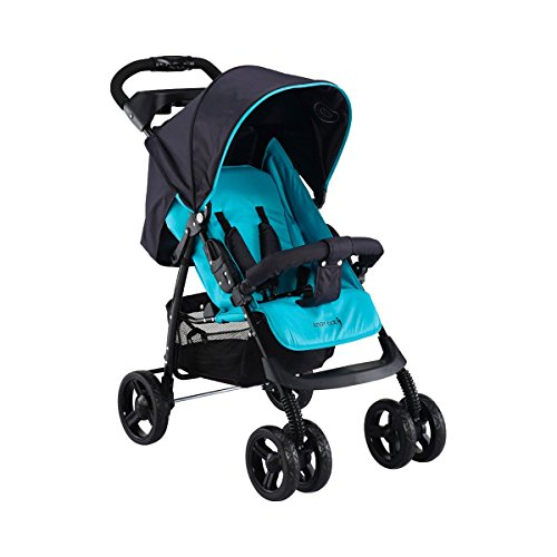 Knorr-baby Passeggino V-Easy Fold Happy Colour, Blu