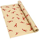 Crawfish Lobster Print Kraft Paper Roll (50 feet) Newspaper Gift wrap Table Runner Seafood Crab Boil Party Cajun Creole
