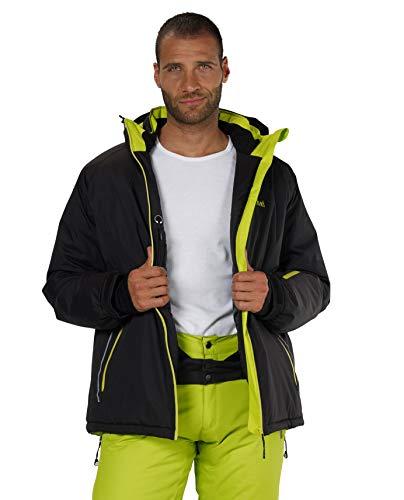 Fifty Five Skijacke Herren Schwarz XL Jamie Snowboardjacke Wasserdicht Atmungsaktiv