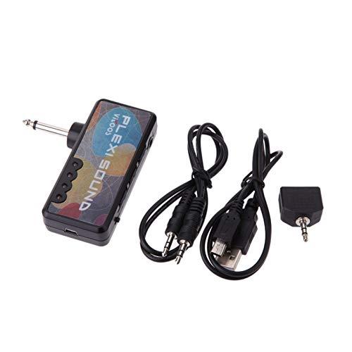 Loski Vitoos Mini Auriculares Amp Amplificador Plexi Sonido Compacto portátil de Enchufe de Guitarra Eléctrica auriculares