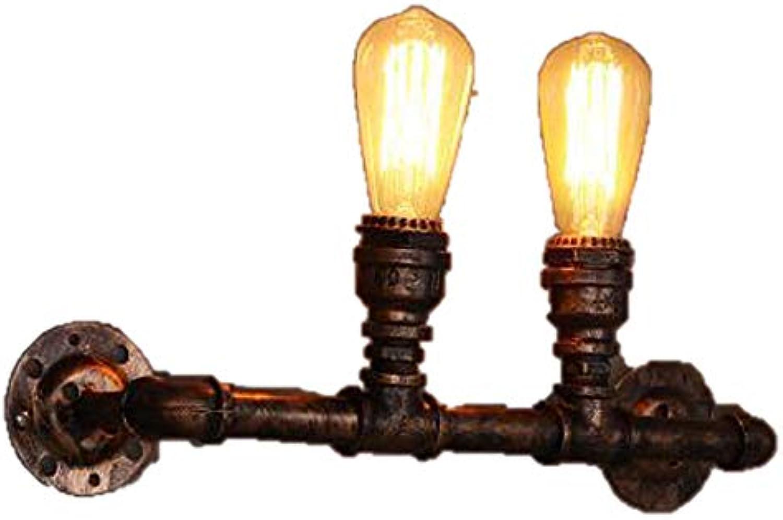 GCC Club Doppelkopf Wasserwand Lampe Loft Nordic Retro Hotelkorridor Kunst Kreative Beleuchtung American Industrial Lighting