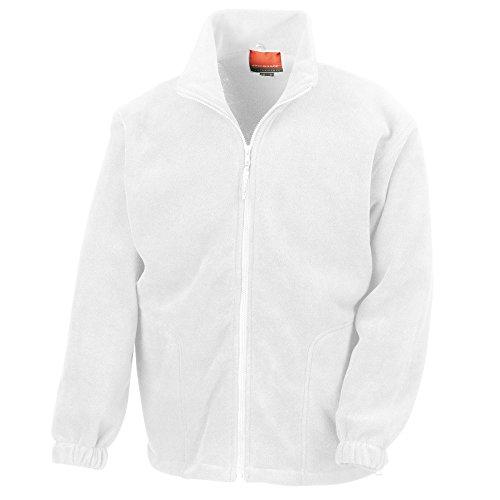 Result Herren Fleece-Jacke, Antipilling M,Weiß