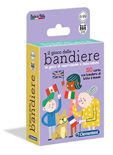 Clementoni - 16564 - Il Gioco Delle Bandiere - Made In Italy - Gioco Da Tavolo, Board Games - Gioco Di Carte Per Tutta La Famiglia - Bambino Dai 6 Ann