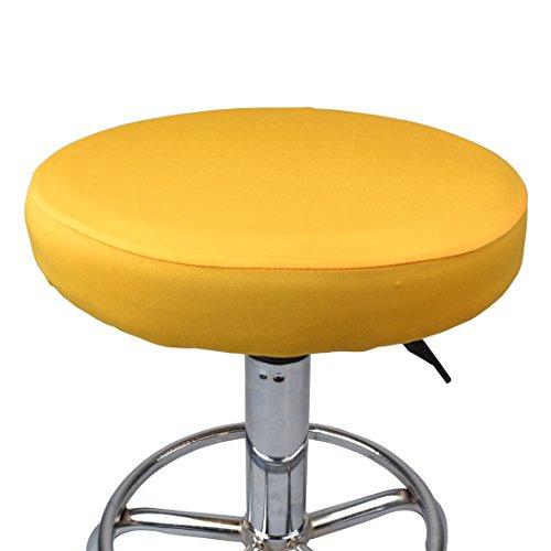Surui - Fundas para taburetes redondos transpirables y elásticas, Amarillo, talla única