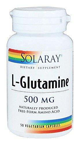 Solaray L-Glutamina 500mg 50 Cápsulas