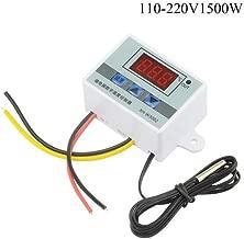XLX XH-W3002 DC 110V-220V 1500W 10A Microcomputer Digital Temperature Controller Digital DisplayThermostat Control Switch and NTC 10K Thermistor Sensors Digital Temperature Probe (110-220V 1500W)