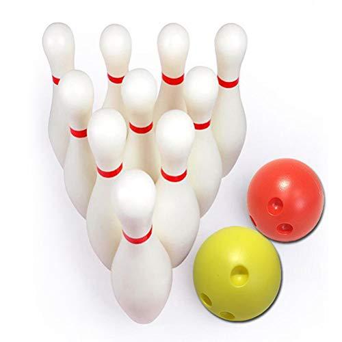 Bestice Bowling Set, Kegeln Spielzeug Outdoor Indoor Bowling Spiel mit Kegeln Pins Bälle für Kinder Gartenparty