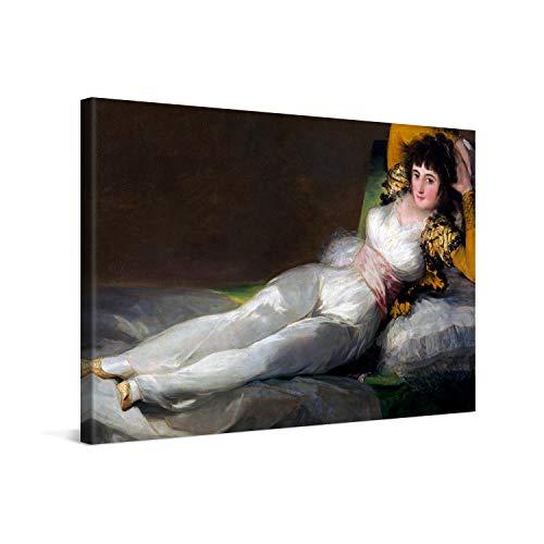 PICANOVA – Francisco Goya – The Clothed Maja 120x80cm – Cuadro sobre Lienzo – Impresión En Lienzo Montado sobre Marco De Madera (2cm) – Disponible En Varios Tamaños – Colección Arte Clásico