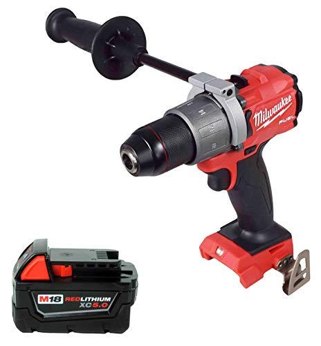Best Price Milwaukee 2804-20 18V 1/2 Hammer Drill,48-11-1850 5.0Ah Battery