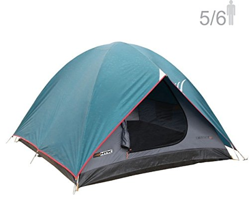 NTK Cherokee GT 5 tot 6 Persoon 9.8 door 9.8 Voet Outdoor Dome Familie Camping Tent 100% Waterdicht 2500mm, Eenvoudige montage, Duurzame Stof Volledige Dekking Regenvlieg - Micro Muggengaas