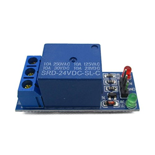 Miss Flora 1 way relay module 24V DC 1Channel low level trigger power relay expansion board module all the way SRD-05VDC-SL-C, RBTMKR Robotic Moving Parts