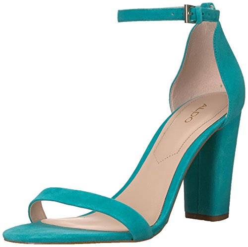 ALDO Women's Myly Heeled Sandal, Teal, 8 B US
