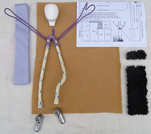 Kunsthandwerk Kolb Bastelpackung - Mann 30 cm MIT SCHWARZEM Haar - Arbeitsmaterial für Erzählfiguren - ähnlich Egli-Figuren