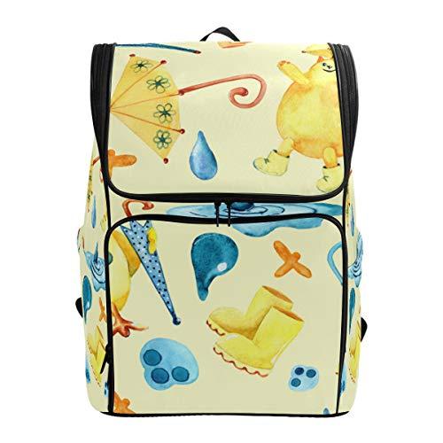 Mokale Nahtloses Muster-Aquarell-Zeichnungs-Bild-Katze,Rucksack Rucksack Reisetasche Wanderrucksack College Student School Bookbag Reisetasche für Männer oder Frauen