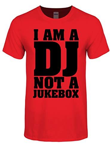 Herren T-Shirt I Am A Dj Not A Jukebox rot