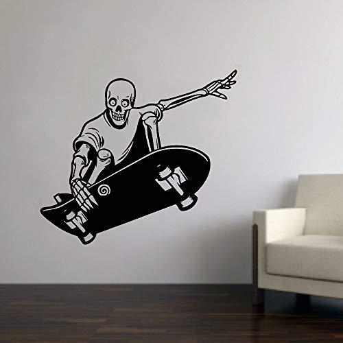 N / A Skateboard Wandtattoos Extremsport Vinyl Aufkleber Kinder Jungen Jungen Teen Zimmer Stadion Wanddekoration Wandaufkleber42x47 cm