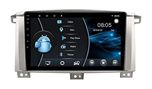 AEBDF Android 10 Sat Nav para Toyota Land Cruiser 105, 9 Pulgadas Coche Estéreo Pantalla táctil GPS Navegación WiFi Mirror Link,4Core WiFi 2+32G